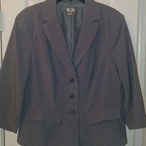 Gray blazer, 18